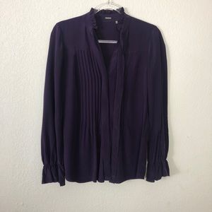 Elie Tahari | Purple Silk Blouse